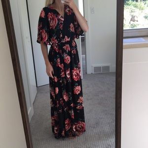 Beautiful floral maxi dress